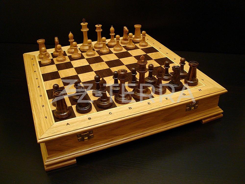 """Шахматы """"Стаунтон Презент"""" дуб"""