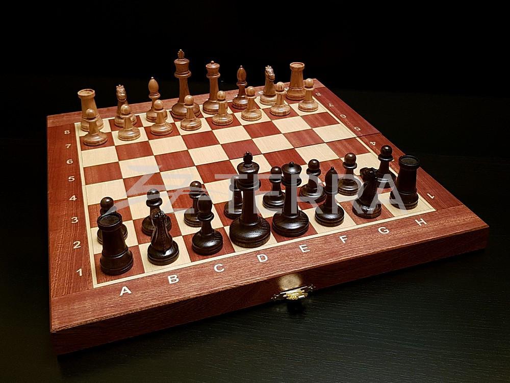 "Шахматы ""Стаунтон"" махагон..."