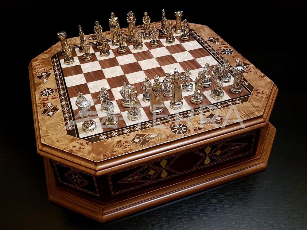 """Шахматы """"Бастион"""" клен антик"""