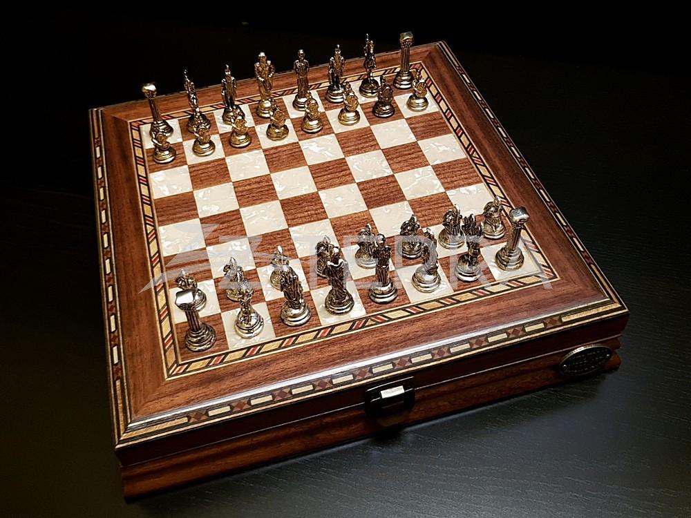 "Шахматы ""Илиада мини"" орех..."