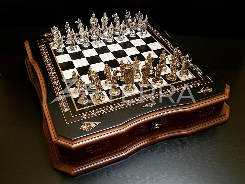 "Шахматы ""Сражение"" венге антик"
