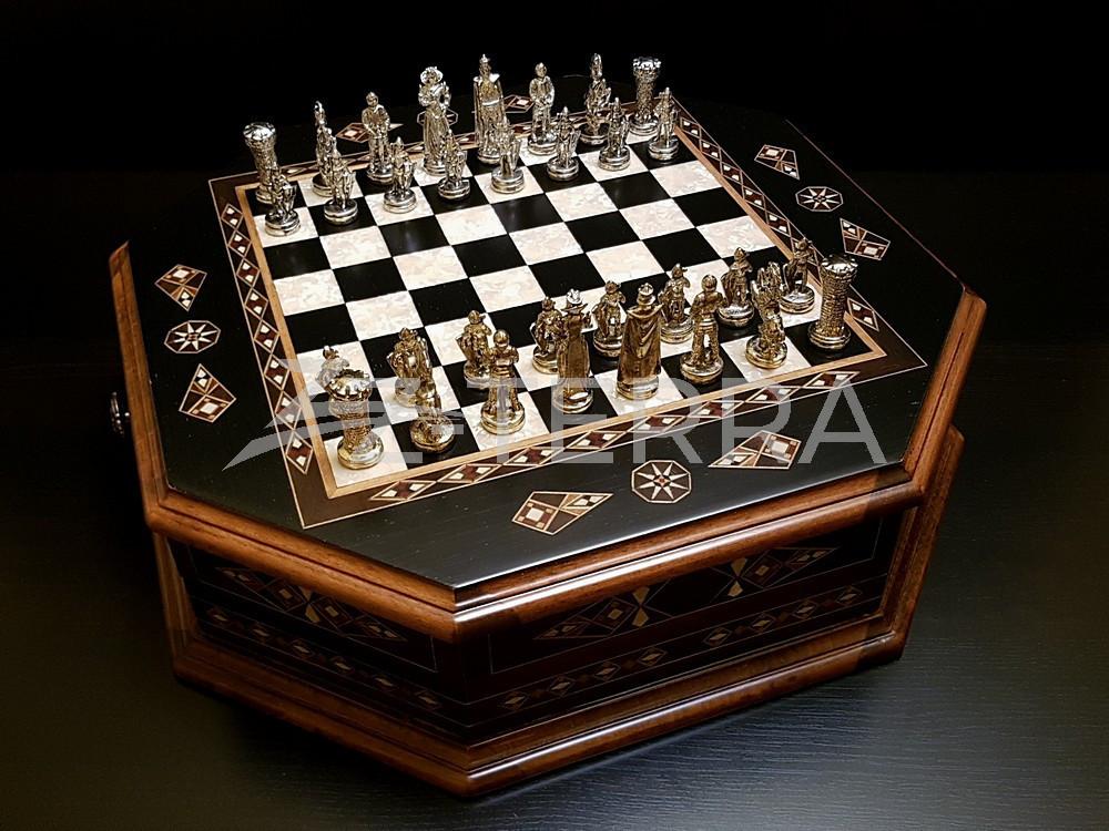 """Шахматы """"Бастион"""" венге антик"""