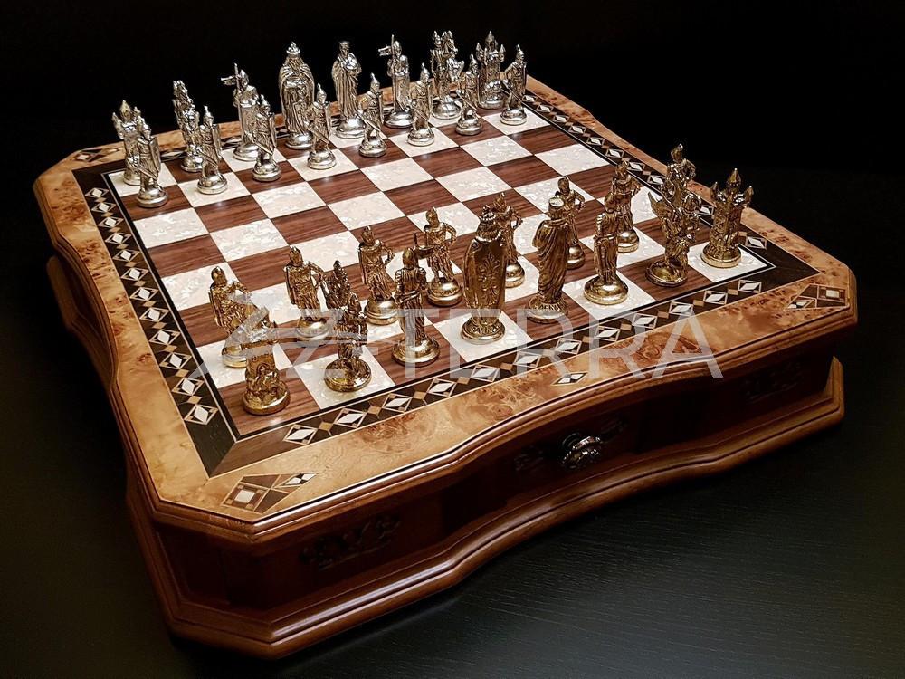 "Шахматы ""Сражение"" клен антик"