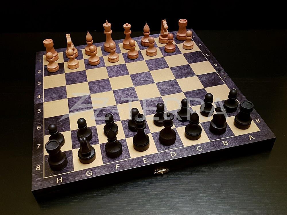 """Шахматы """"Игрок"""" черные-золото"""